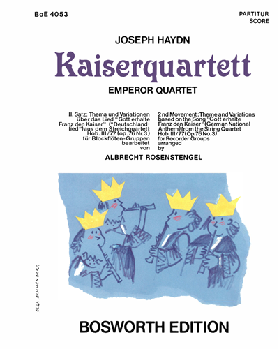 Kaiserquartett (2nd Movement:Theme and Variations) arranged for Recorder Groups