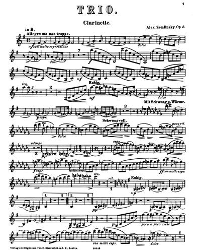 Trio in D minor, op. 3