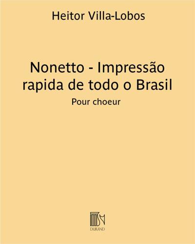 Nonetto - Impressão rapida de todo o Brasil