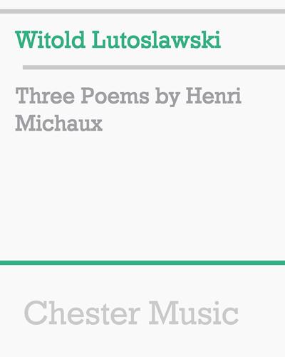 Three Poems by Henri Michaux