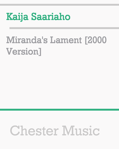 Miranda's Lament [2000 Version]