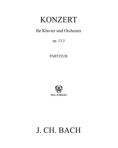 Konzert für Klavier und Orchester Op. 13 n. 3