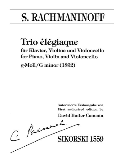 Trio élégiaque [First Authorized Edition]