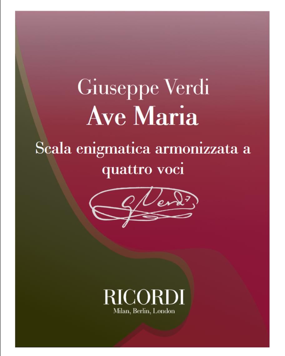 Ave Maria - Scala enigmatica armonizzata a quattro voci