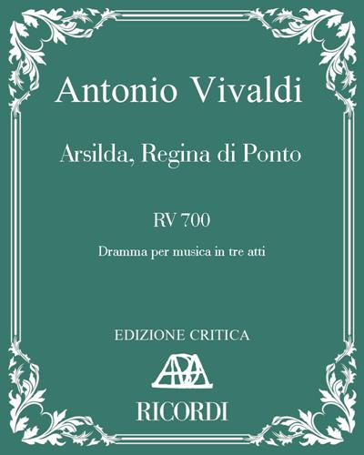 Arsilda, Regina di Ponto RV 700