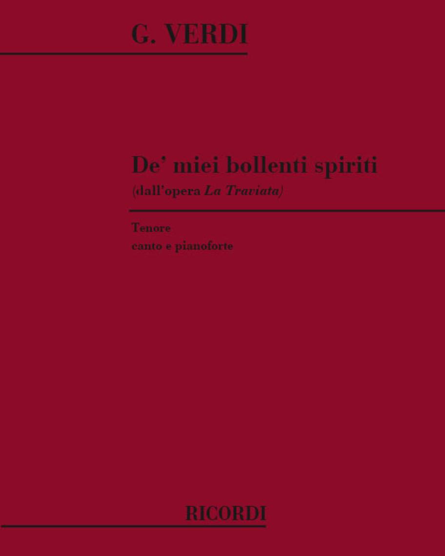 """De' miei bollenti spiriti (dall'opera """"La Traviata"""")"""
