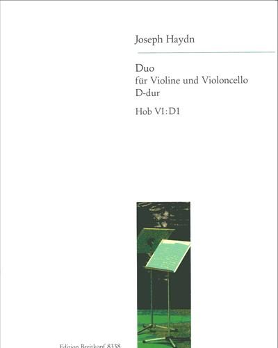 Duo Hob VI: D 1 D-dur