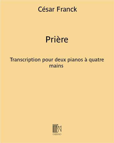 """Prière (extrait n. 5 des """"Œuvres d'orgue"""")"""