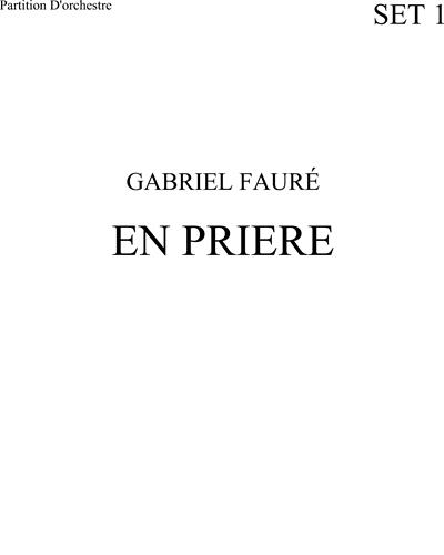 En Prière (high voice)