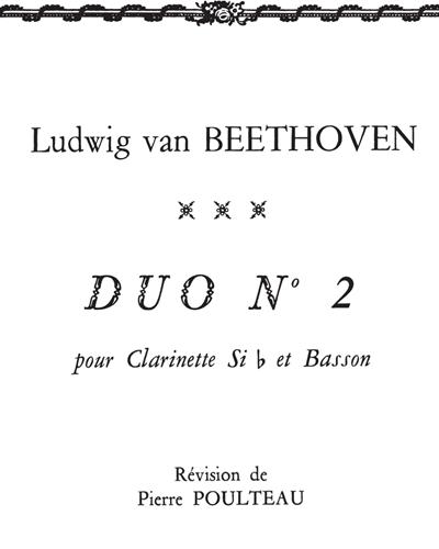Duo No. 2 pour Clarinette Sib et Basson