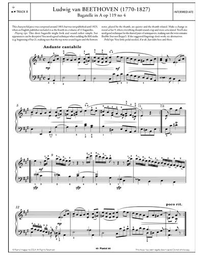 Bagatelle in A, Op.119, No.4