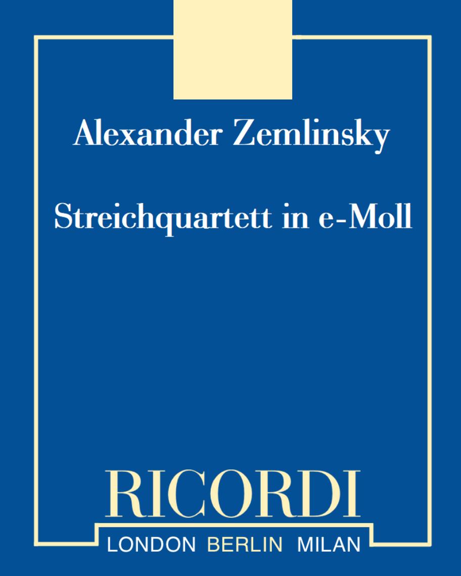 Streichquartett in e-Moll