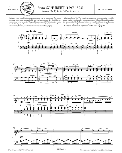 Andante (from 'Sonata No.13 in A D664')