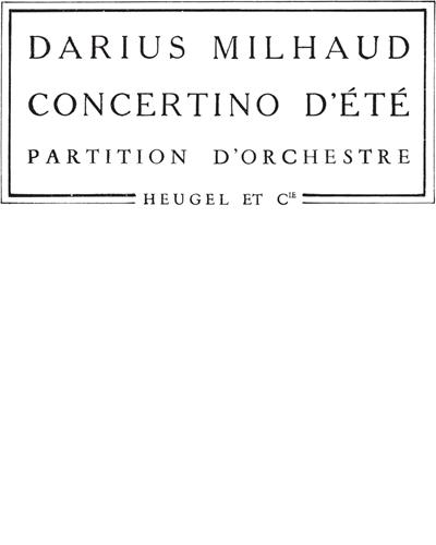 Concertino D'ete Op. 311