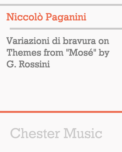 "Variazioni di bravura on Themes from ""Mosé"" by G. Rossini"