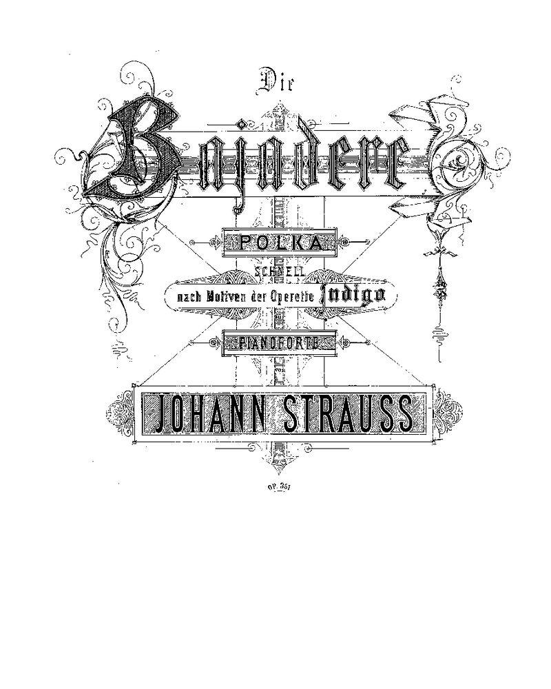Die Bajadere, Op. 351