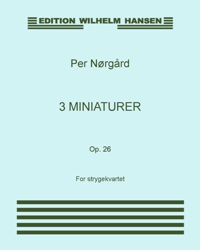 3 miniaturer, Op. 26