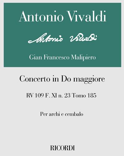 Concerto in Do maggiore RV 109 F. XI n. 23 Tomo 185