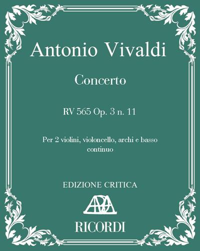 Concerto RV 565 Op. 3 n. 11