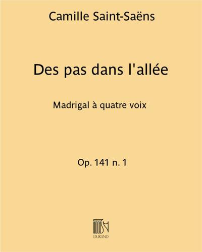 Des pas dans l'allée Op. 141 n. 1