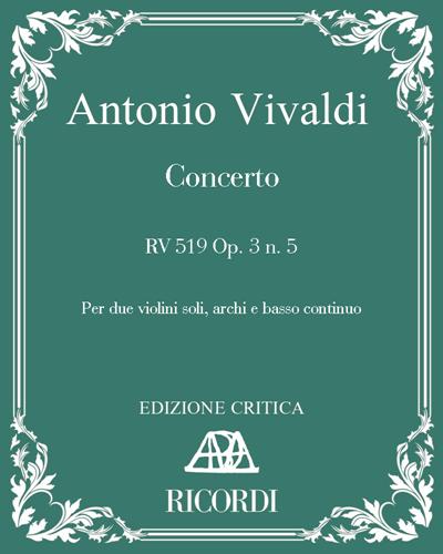 Concerto RV 519 Op. 3 n. 5