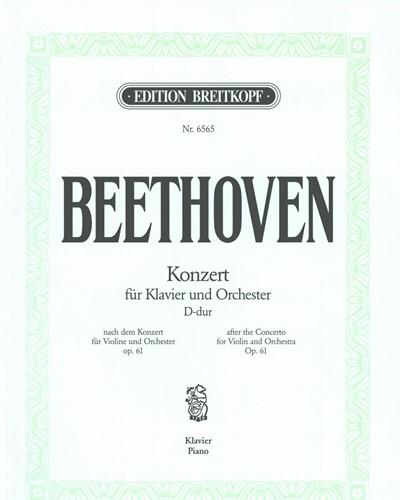 Klavierkonzert D-dur nach op. 61 (Solostimme mit vier originalen Kadenzen)