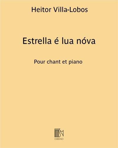 """Estrella é lua nóva (extrait n. 5 de """"Chansons typiques Brésiliennes"""")"""