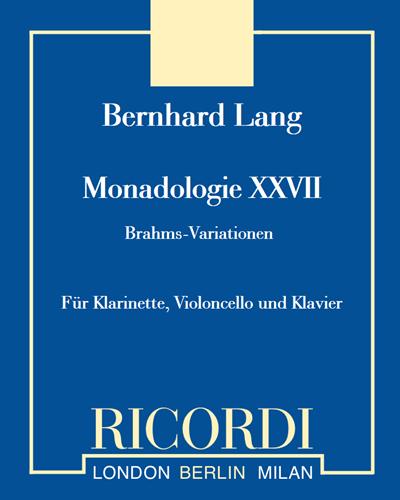 """Monadologie XXVII """"Brahms-Variationen"""""""