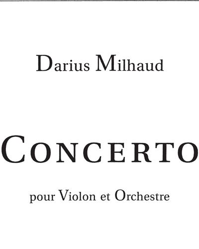 Concerto pour Violon et Orchestre Op. 93