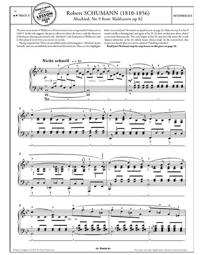 Abschied, Waldszenen Op.82 No.9