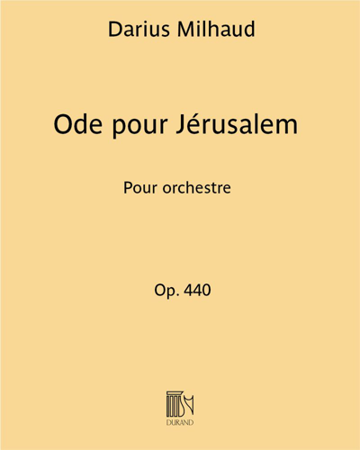 Ode pour Jérusalem Op. 440