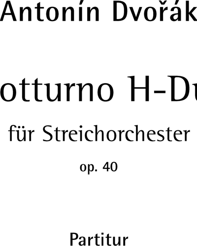 Notturno B major op. 40