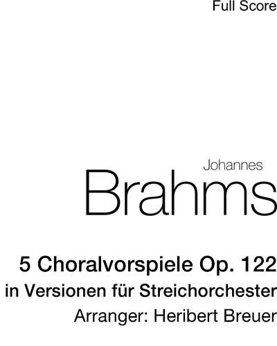 5 Choralvorspiele Op. 122