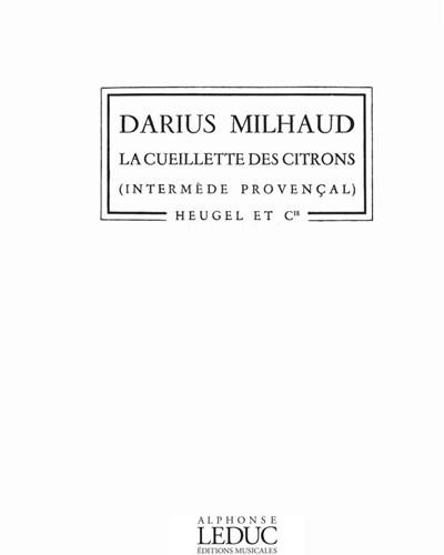 La Cueillette des Citrons Op. 298b