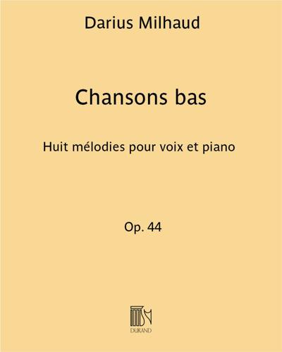 Chansons bas Op. 44