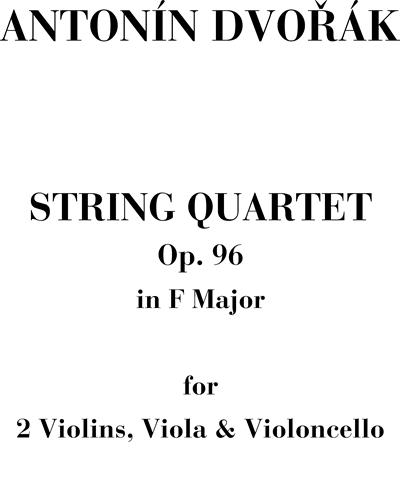"""String Quartet n. 12 in F Major, Op. 96 """"American"""""""