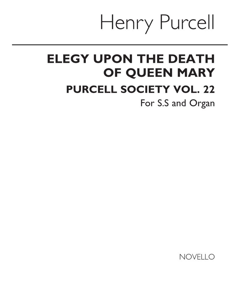 Elegy upon the Death of Queen Mary
