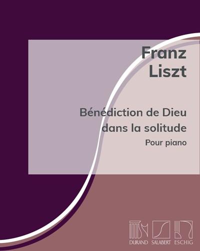 """Bénédiction de Dieu dans la solitude (n. 3 des """"Harmonies poétiques et religieuses"""")"""
