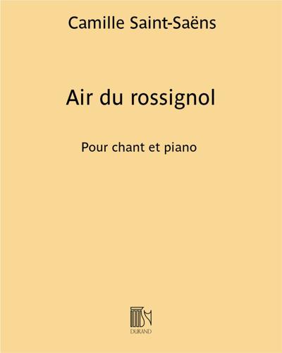 """Air du rossignol (extrait de """"Parysatis"""")"""
