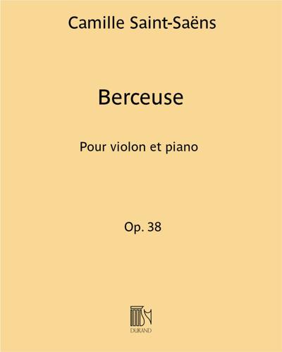 Berceuse Op. 38