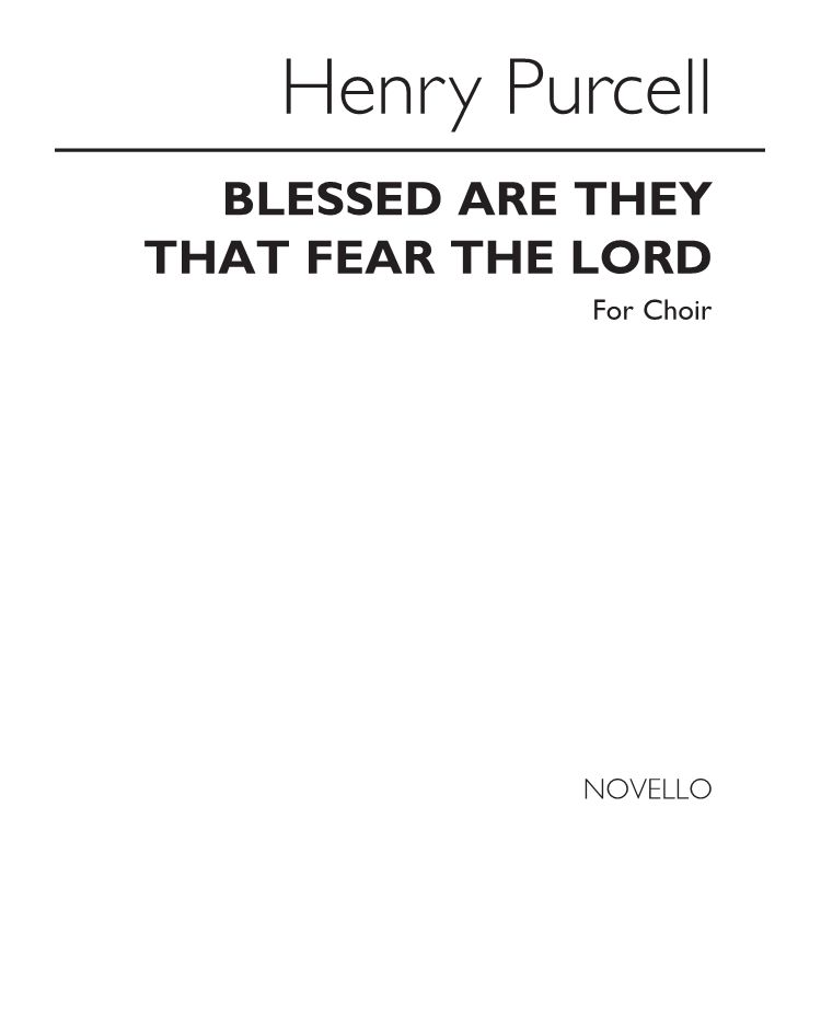 Blessed are they that fear the Lord