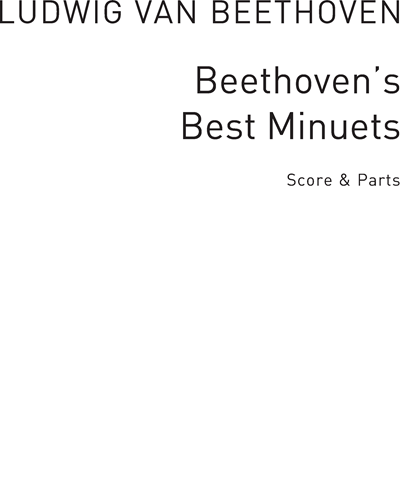 Beethoven's Best Minuets arranged for Recorder Groups