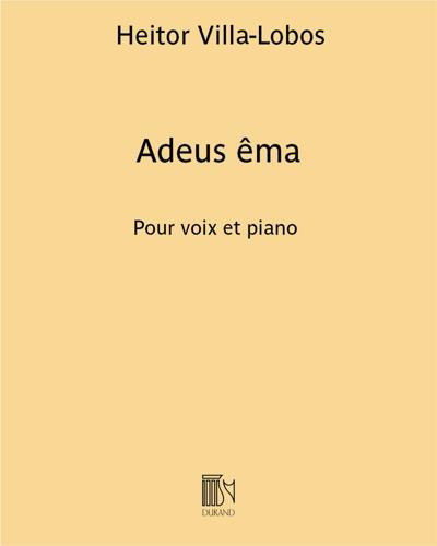 """Adeus êma (extrait n. 7 de """"Chansons typiques Brésiliennes"""")"""