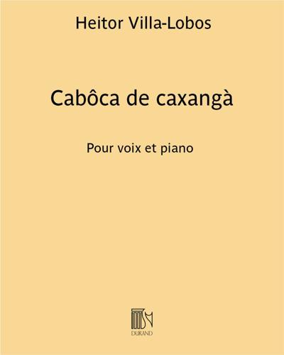 """Cabôca de caxangà (extrait n. 10 des """"Chansons typiques Brésiliennes"""")"""