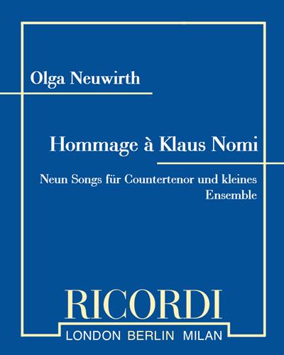 Hommage à Klaus Nomi (Neun Songs für Countertenor und kleines Ensemble)