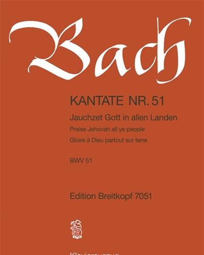"""Kantate BWV 51 """"- Jauchzet Gott in allen Landen"""""""