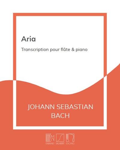 """Aria (extrait de la """"Suite en Ré"""" BWV 1068)"""