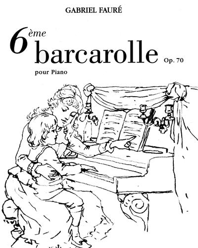 Barcarolle No. 6, Op. 70 pour Piano