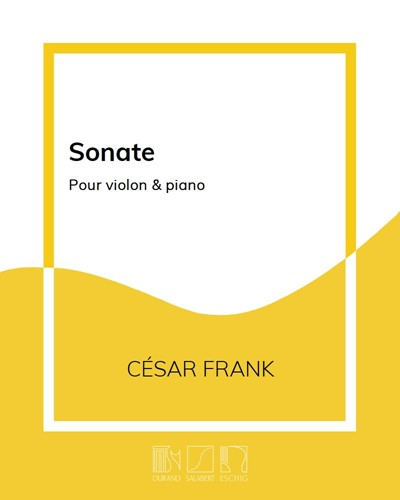 Sonate pour violon & piano
