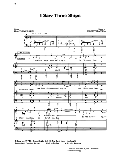 I Saw Three Ships (from 'Carols For Today')